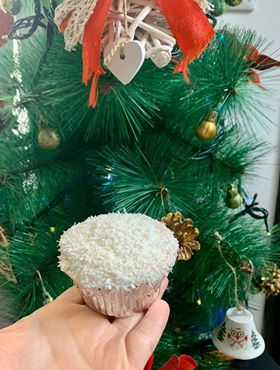 Cupcakes bianco natale